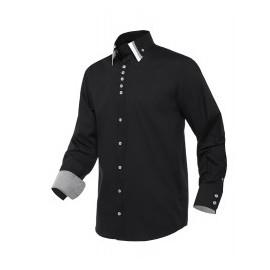 Camisa negra bicolor 2130 Monza