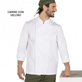 Chaqueta cocina m/l velcro modelo 9410