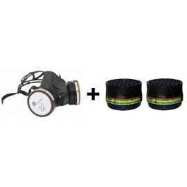 Pack mascarilla con dos filtros ABEK1P3