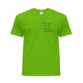 25 Camisetas publicitarias logo 1 color tamaño bolsillo