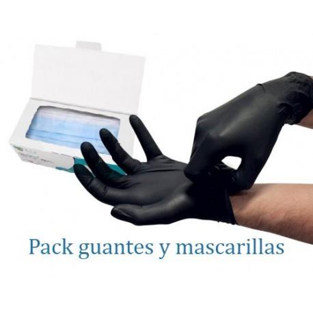 Guante nitrilo negro refuerzo en dedos