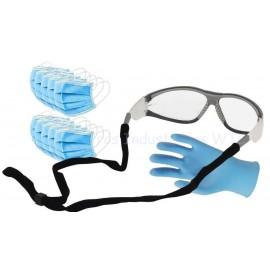 Pack gafa, guantes latex y mascarillas