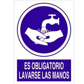 Señal obligación lavarse las manos
