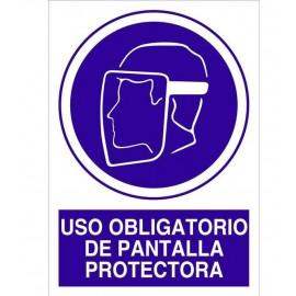 Señal obligacion usar pantalla proteccion
