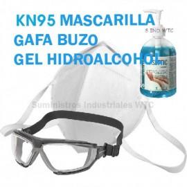 Pack Mascarillas FFP2, Gafa y Gel