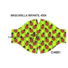 Mascarilla reutilizable infantil Mariquitas