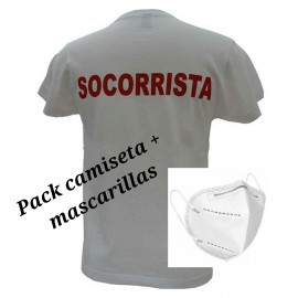 Pack 3 camisetas ,5 mascarillas FFP2