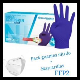 Promoción guantes nitrilo y mascarillas FFP2