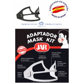 Adaptador mascarillas Jar blanco